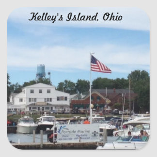 Kelley's Island Portside Marina Ohio Sticker