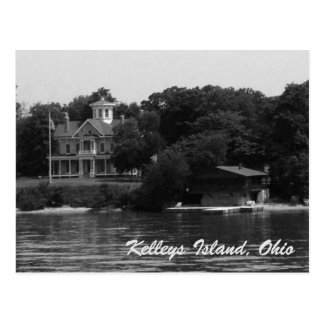 Kelleys Island waterfront homes photo postcard