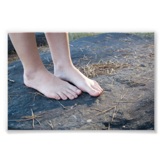 Kellie Barefoot Rock Photo Print