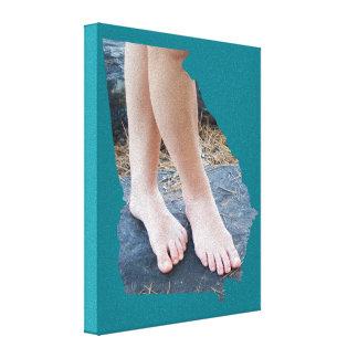 Kellie Crossed Feet GA State Outline Canvas Print