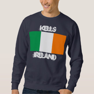 Kells, Ireland with Irish flag Sweatshirt