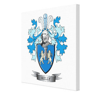Kelly Coat of Arms Canvas Print