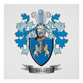 Kelly Coat of Arms Poster