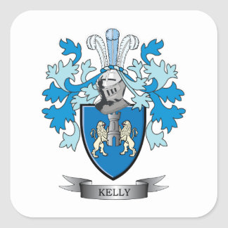 Kelly Coat of Arms Square Sticker