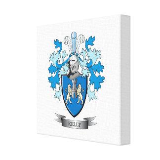 Kelly Family Crest Canvas Print