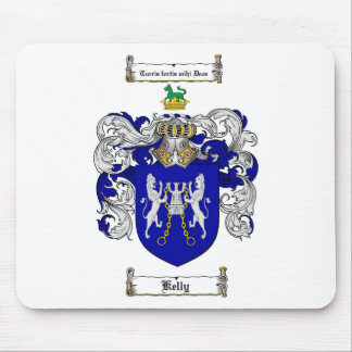 KELLY FAMILY CREST -  KELLY COAT OF ARMS MOUSE PAD