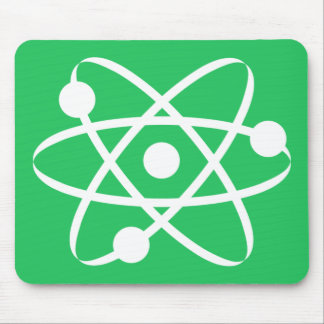 Kelly Green Atom Mouse Pad