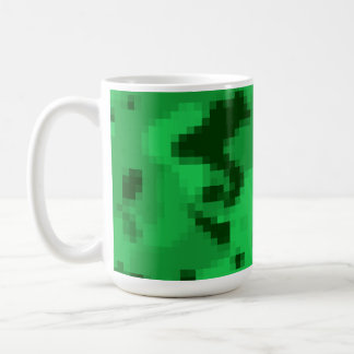 Kelly Green Digital Camo; Camouflage Basic White Mug
