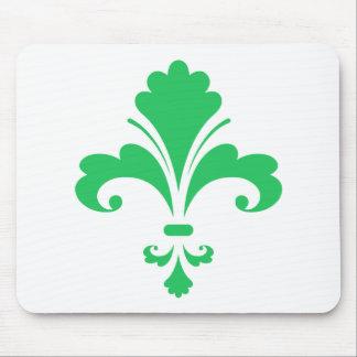 Kelly Green Fleur-de-lis Mouse Pad