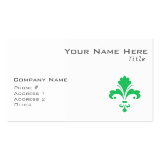 Kelly Green Fleur-de-lis Pack Of Standard Business Cards