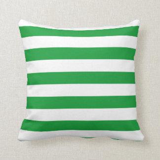 Kelly Green Horizontal Stripes; Striped Cushion