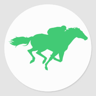 Kelly Green Horse Racing Sticker