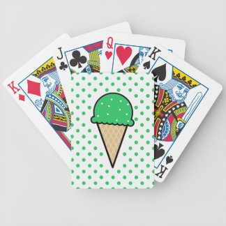 Kelly Green Ice Cream Cone Deck Of Cards