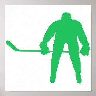 Kelly Green Ice Hockey Poster