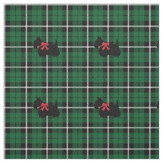 Kelly green Irish green Scottish Terrier plaid Fabric