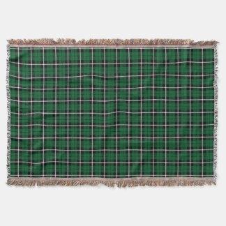 Kelly green Irish green white/black stripe Throw Blanket