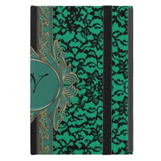 Kelly Green Irish Lace Custom Monogram iPad Mini Cover