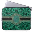 Kelly Green Irish Lace Monogram Laptop Sleeve