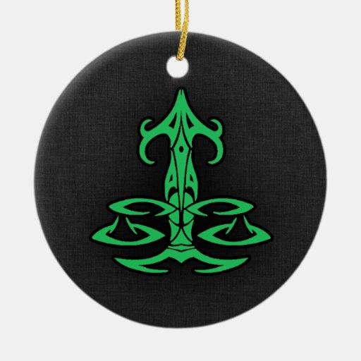Kelly Green Libra Christmas Tree Ornament