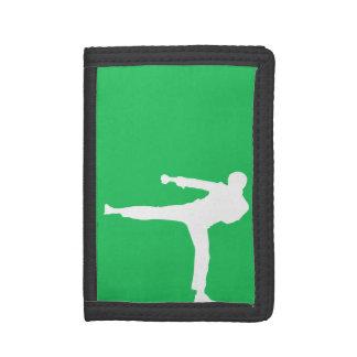 Kelly Green Martial Arts Tri-fold Wallet