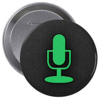 Kelly Green Microphone Button
