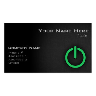 Kelly Green Power Button Pack Of Standard Business Cards