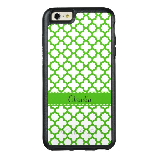 Kelly Green Quatrefoil Pattern OtterBox iPhone 6/6s Plus Case