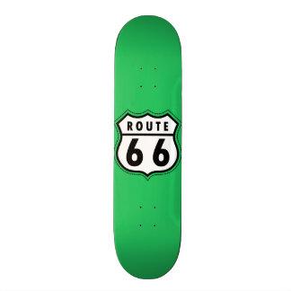 Kelly Green Route 66 Road Sign Skate Board Decks