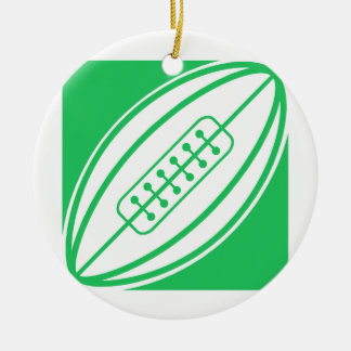 Kelly Green Rugby Ceramic Ornament