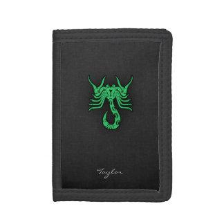 Kelly Green Scorpio Tri-fold Wallets