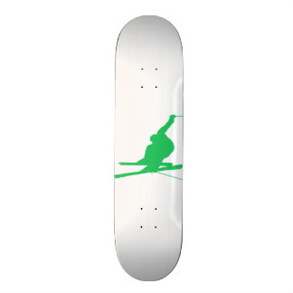 Kelly Green Snow Ski 19.7 Cm Skateboard Deck