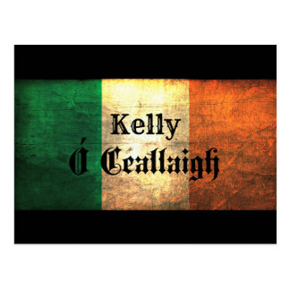 Kelly Irish Flag Postcard