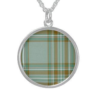 Kelly Scottish Tartan Sterling Silver Necklace