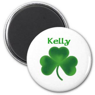 Kelly Shamrock 6 Cm Round Magnet