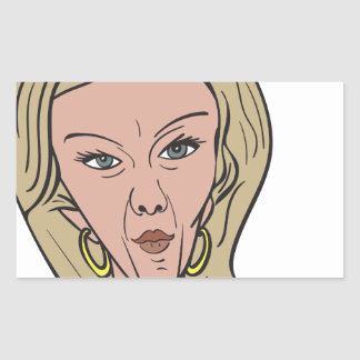 Kellyanne Conway Color Caricature Rectangular Sticker