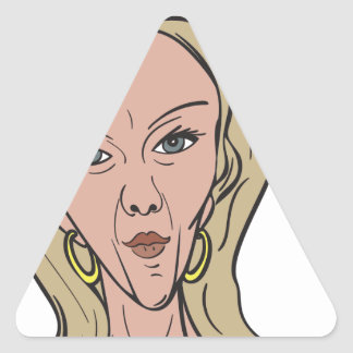 Kellyanne Conway Color Caricature Triangle Sticker