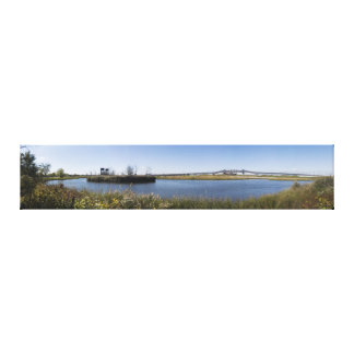 Kelly's Cove and the Pulaski Skyway Panoramic Canvas Print