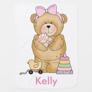 Kelly's Teddy Bear Personalized Gifts Baby Blanket