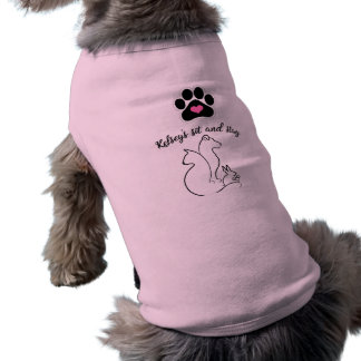 Kelsey's Sit and Stay Doggie Ribbed Tank Top Sleeveless Dog Shirt