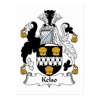 Kelso Family Crest Postcard