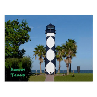 Kemah, TX  Lighthouse postcard - customized
