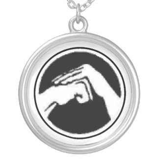 Kempo Fist Silver Plated Necklace