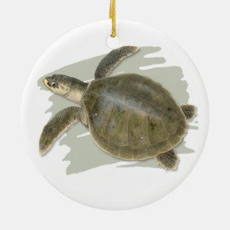 Kemp's Ridley Sea Turtle Ceramic Ornament