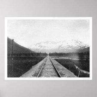 Kenai Peninsula Railroad Track 1918 Poster