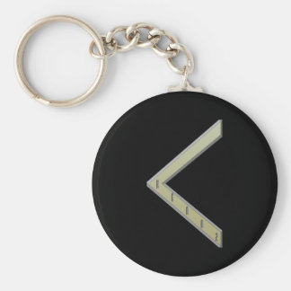 Kenaz Rune gold Key Ring