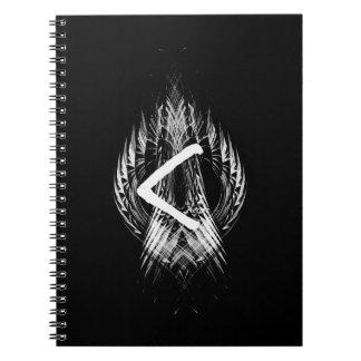 ☼KENAZ - RUNE OF REGENERATION & FIRE☼ NOTEBOOKS