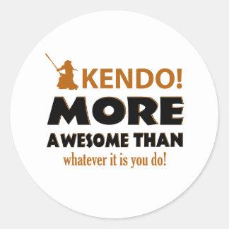 KENDO DESIGN CLASSIC ROUND STICKER