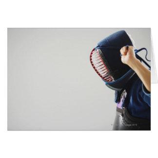 Kendo Fencer Fastening Mask Card