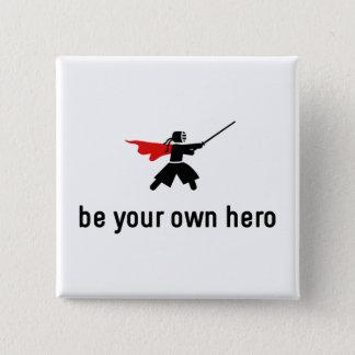 Kendo Hero 15 Cm Square Badge