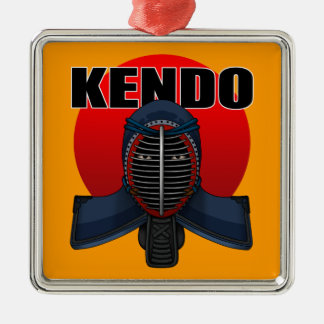 Kendo men1 metal ornament